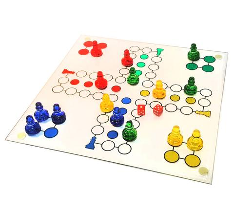 Crystal Glass Ludo Game